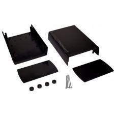 Z112B (Kradex) Корпусас боковыми панелями пластиковый приборный 80*136*185,5мм черный