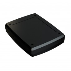 Z124 abs (Kradex) Корпусаспециальные с местом под дисплей 38,5*144,6*184,7мм черный