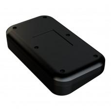 Z127S abs  (Kradex) Корпус специальный под пломбировку с наклонной панелью из двух частей 41,7*100*108 мм черный