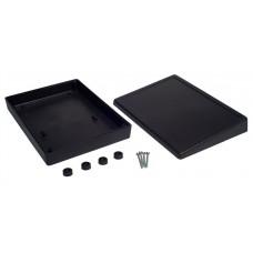 Z33A (Kradex) Корпусс местом под дисплей наклонный 46*140*190мм, черный