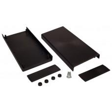 Z37 (Kradex) Корпусас боковыми панелями пластиковый приборный 48*128*258 мм, черный
