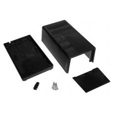 Z40 (Kradex) Корпусас боковыми панелями пластиковый приборный 80*100*179 мм, черный